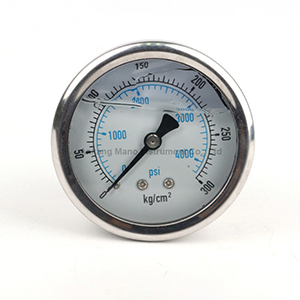 PG-035 SS oil filled pressure gauge
